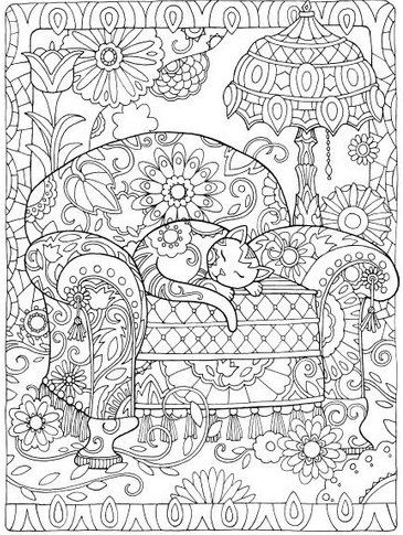 Creative Cats Colouring Book I Marjorie Sarnat: