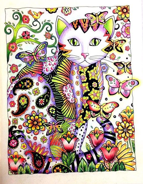 Inspirational Coloring Pages by Sheyla Braz #inspiração #coloringbooks #livrosdecolorir #jardimsecreto #secretgarden #cats #gatomania #gatos #florestaencantada #enchantedforest #reinoanimal #animalkingdom #adultcoloring #milliemarotta: