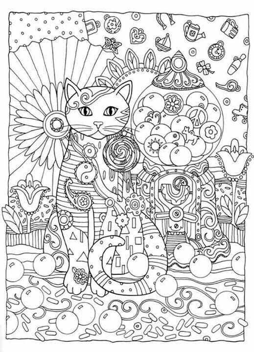 Creative Haven Creative Cats Dover Publications Coloring: