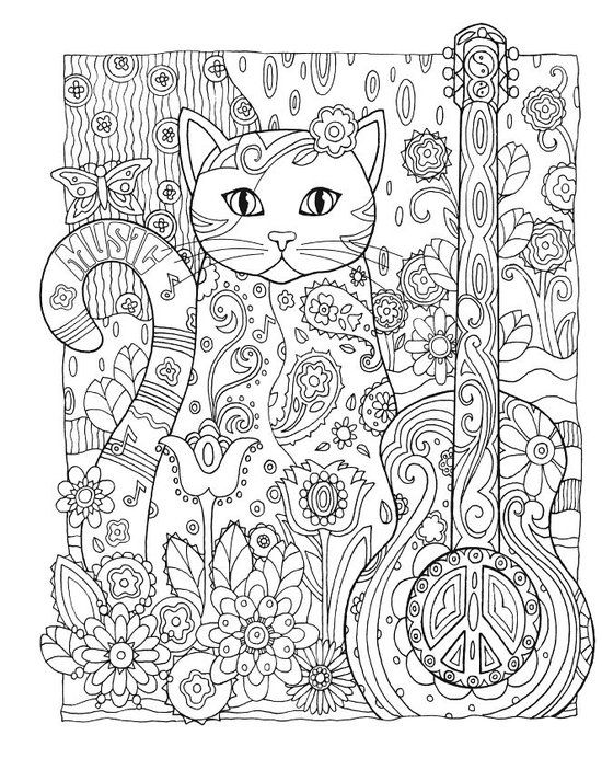 bol.com | Creative Haven Creative Cats Coloring Book, Marjorie Sarnat | 9780486789644...: