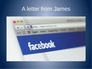 A letter from James