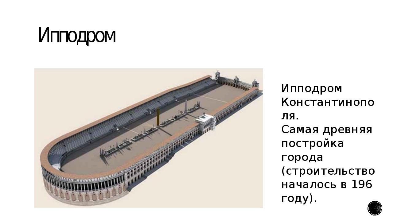 Ипподром Ипподром Константинополя. Самая древняя постройка города (строительс...