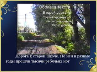 Дорога к старой школе. По ней в разные годы прошли тысячи ребячьих ног