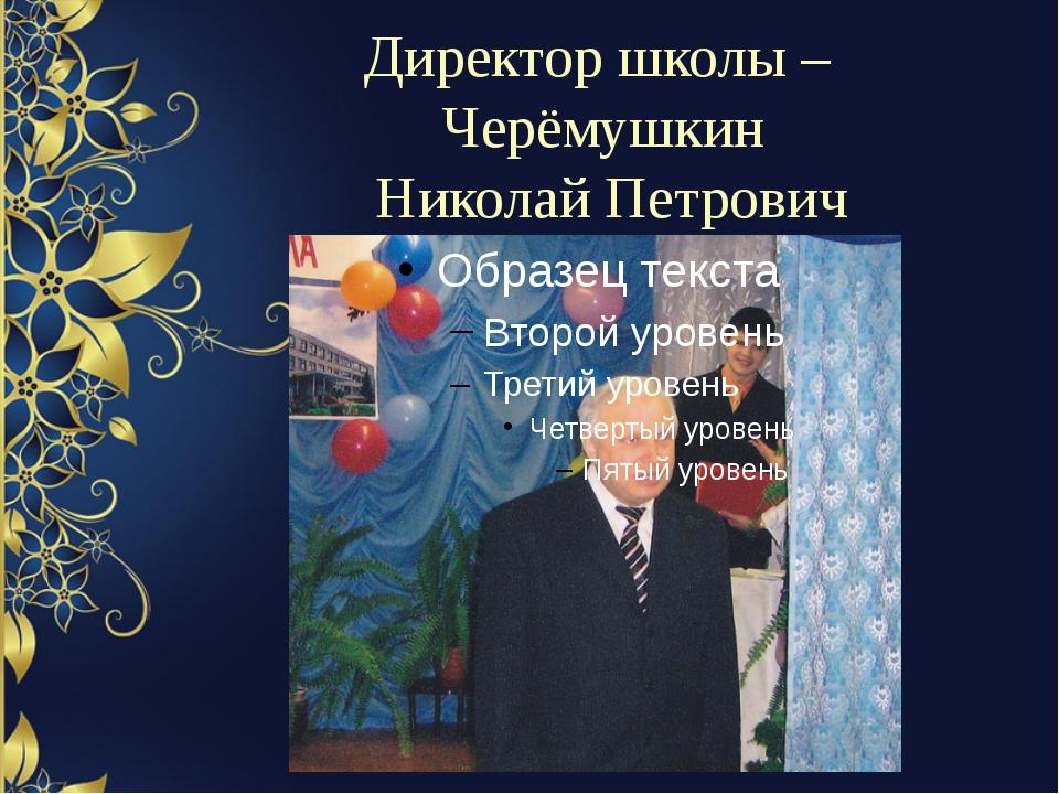 Директор школы – Черёмушкин Николай Петрович