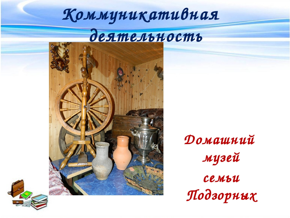 Коммуникативная деятельность Домашний музей семьи Подзорных