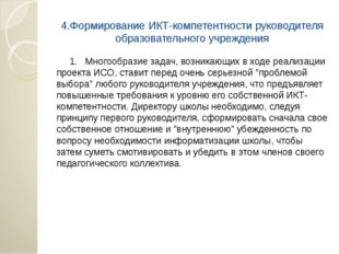 4.Формирование ИКТ-компетентности руководителя образовательного учреждения 1.