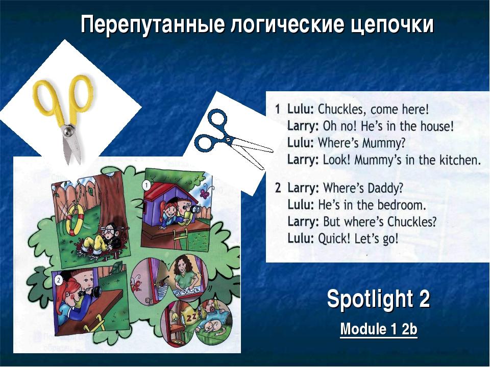 Перепутанные логические цепочки Spotlight 2 Module 1 2b