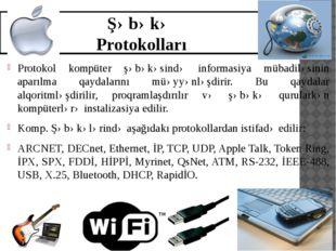Şəbəkə Protokolları Protokol kompüter şəbəkəsində informasiya mübadiləsinin a