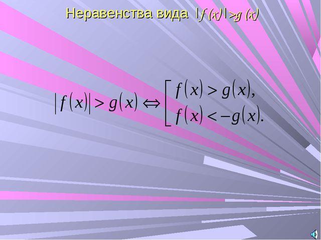 Неравенства вида |f (x)|>g (x)