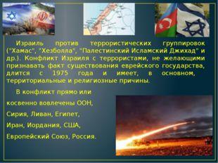 """Израиль против террористических группировок (""""Хамас"""", """"Хезболла"""", """"Палестинс"""