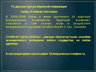По данным Центра оборонной информации Center of Defense Information В 2008-2