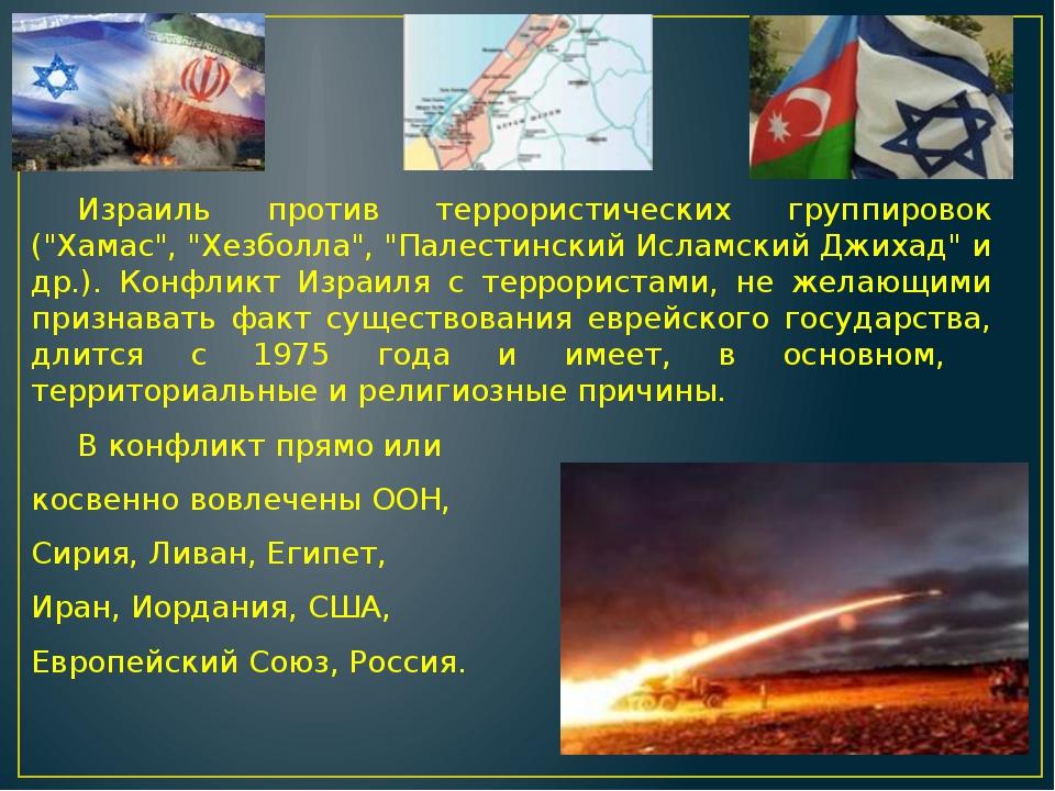 """Израиль против террористических группировок (""""Хамас"""", """"Хезболла"""", """"Палестинс..."""