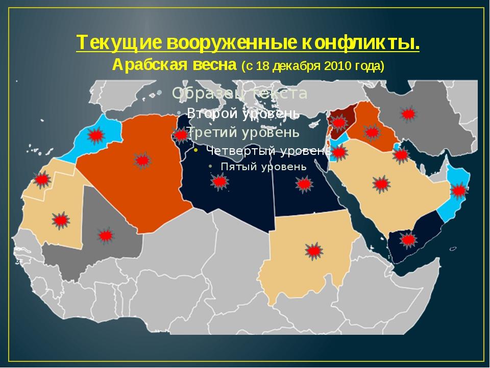 Текущие вооруженные конфликты. Арабская весна (с 18 декабря 2010 года)