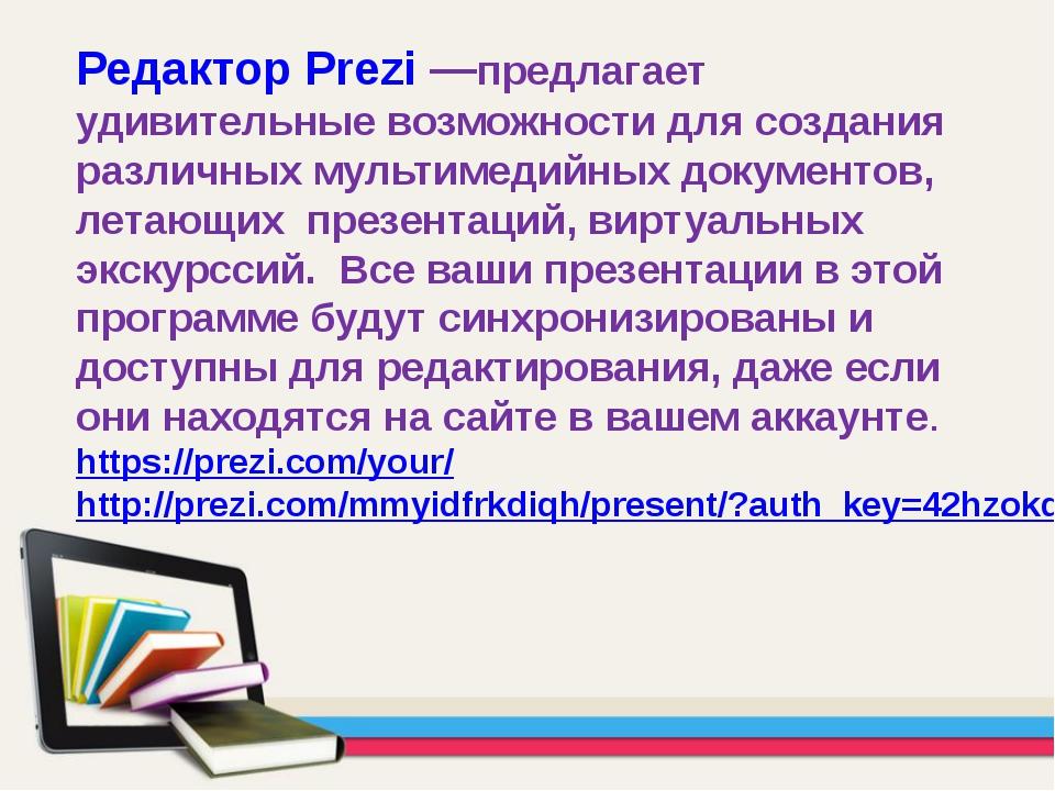 Редактор Prezi —предлагает удивительные возможности для создания различных му...