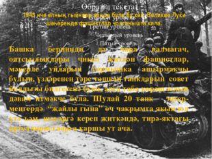 1943 нче елның гыйнвар аенда була бу хәл. Великие Луки шәһәрендә фашистлар чо