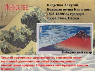 Кацусика Хокусай Большая волна Канагавы, 1823-1829г.г., гравюра музей Гиме, П