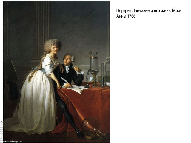 Портрет Лавуазье и его жены Мри-Анны 1788