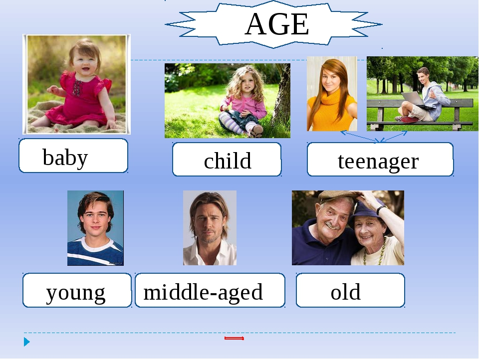 Child AGE AGE AGE baby child teenager young middle-aged old