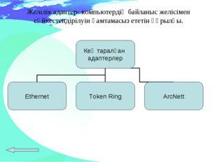 Желілік адаптер- компьютердің байланыс желісімен сәйкестендірілуін қамтамасыз