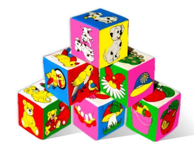Игрушка кубики Мякиши Предметы плюс