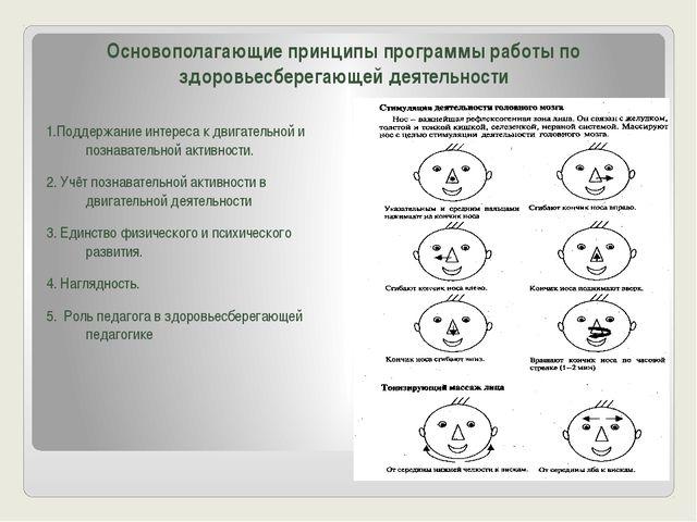 Основополагающие принципы программы работы по здоровьесберегающей деятельност...