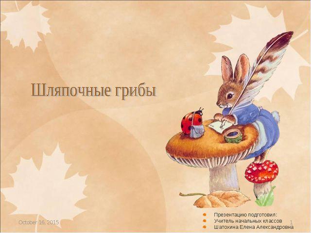 * * Презентацию подготовил: Учитель начальных классов Шатохина Елена Александ...