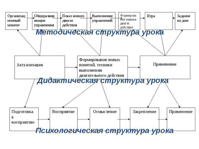 Дидактическая структура урока Методическая структура урока Психологическая ст...