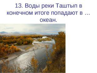 13. Воды реки Таштып в конечном итоге попадают в … океан.