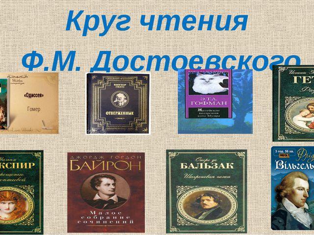 Круг чтения Ф.М. Достоевского