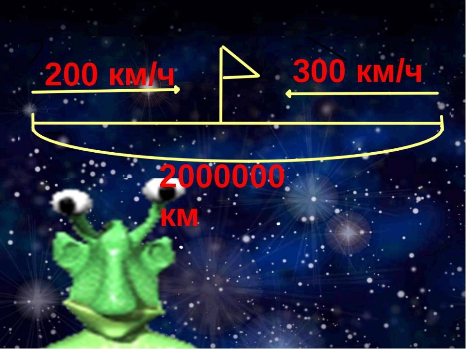 200 км/ч 300 км/ч 2000000 км