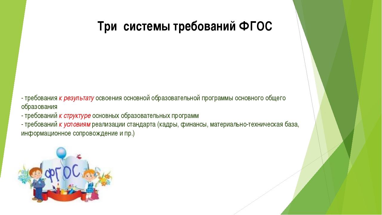 - требования к результату освоения основной образовательной программы основно...