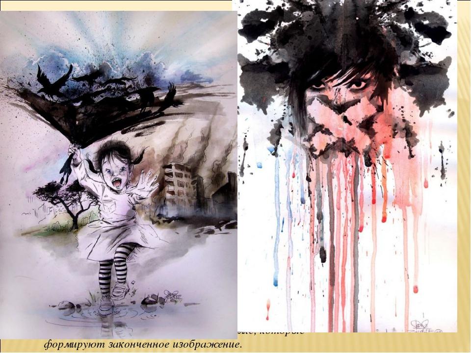 Lora8 — молодая художница из Британии, создающая свои картины в виде потеков...