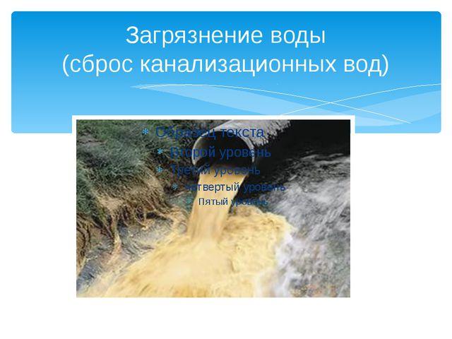 Загрязнение воды (сброс канализационных вод)