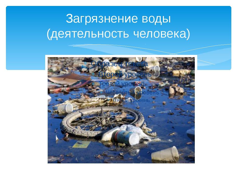 Загрязнение воды (деятельность человека)
