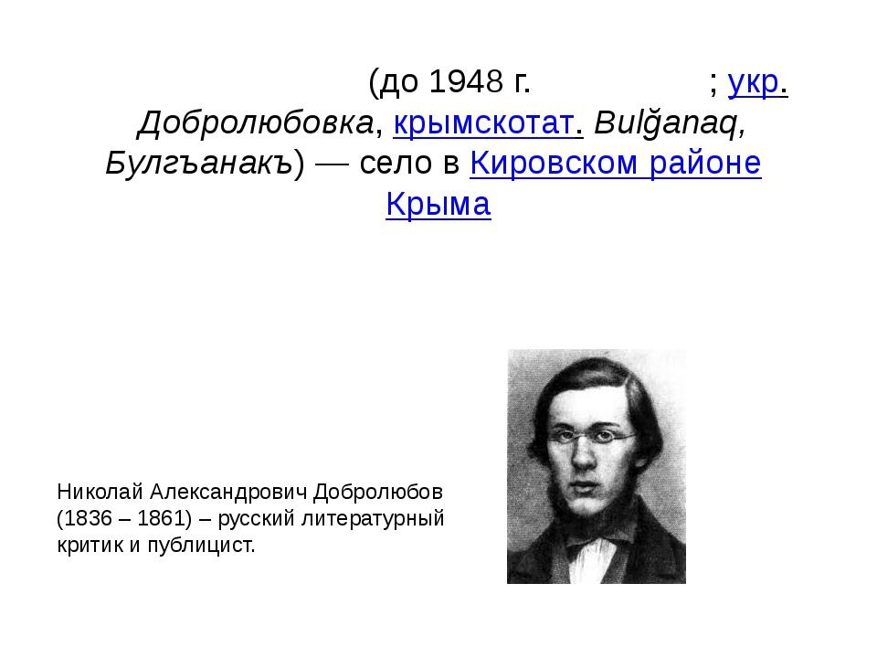 Добролю́бовка(до 1948г.Булгана́к;укр.Добролюбовка,крымскотат.Bulğanaq,...