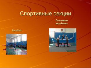Спортивные секции Волейбол Спортивная акробатика