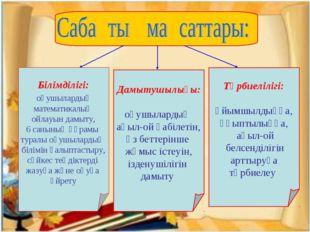 Білімділігі: оқушылардың математикалық ойлауын дамыту, 6 санының құрамы тура