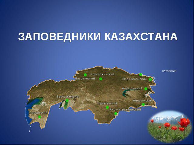 ЗАПОВЕДНИКИ КАЗАХСТАНА алтайский