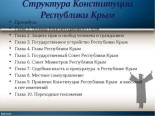 Структура Конституции Республики Крым Преамбула Глава 1. Основы Конституционн