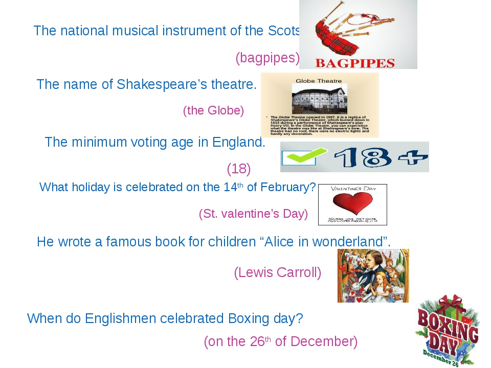 The national musical instrument of the Scots. (bagpipes) The name of Shakespe...