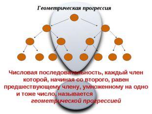 Геометрическая прогрессия Числовая последовательность, каждый член которой, н