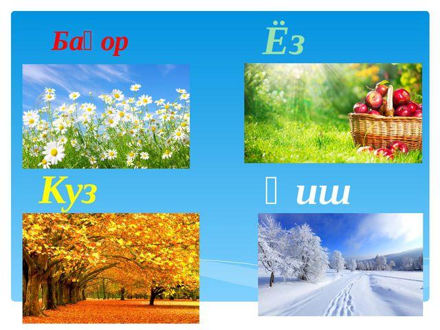 Баҳор Ёз Куз Қиш