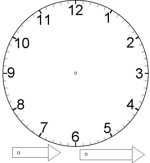 Поделка-часы шаблон
