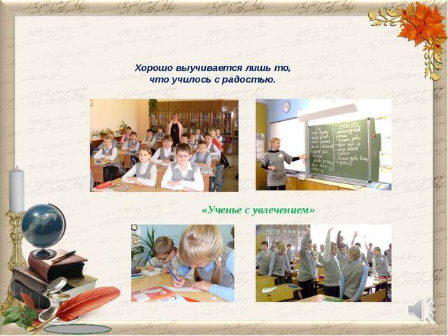 Хорошо выучивается лишь то, что училось с радостью. «Ученье с увлечением»