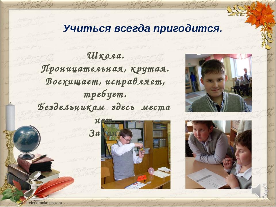 Учиться всегда пригодится. Школа. Проницательная, крутая. Восхищает, исправля...