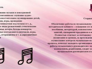 Воспитатель Использование музыки в повседневной жизни воспитанников: слушание