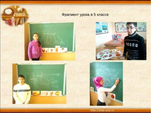 Фрагмент урока в 5 классе