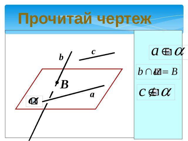 Прочитай чертеж B c b a
