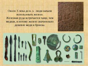 Около X века до н. э. люди начали использовать железо. Железная руда встреча