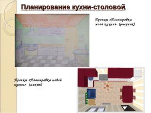 Планирование кухни-столовой. Проект «Планировка моей кухни»- (рисунок) Проект